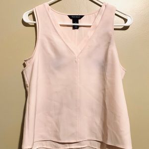 WHBM salmon pink sleeve less blouse